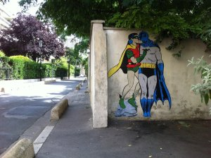 Batman-and-Robin-kissing.-By-memeIRL-in-France-1